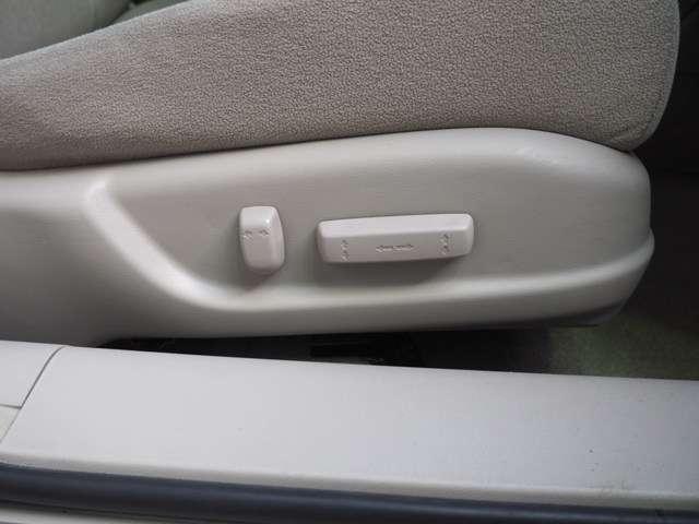 簡単操作でベストポジションを 運転席はパワーシートです