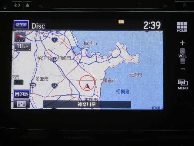 純正メモリーナビゲーション。地図の拡大や移動もスマホのように操作できます。フルセグTVにBluetooth Audioなど機能充実です。