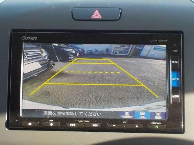 リアカメラが付いています!駐車時や後退時に視界確保のサポートをしてくれるので安心できますね♪
