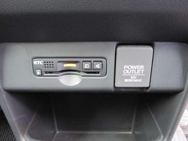 ETC車載器。 お出かけには今や欠かせなくなってきましたETCも装備です。高速道路の利用もスマート。