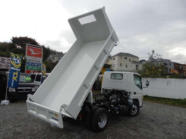 三菱ふそう キャンター 強化ダンプ 全低床 ディーゼルターボ メーカー保証付