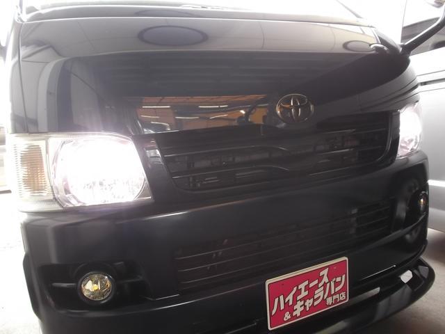 トヨタ ハイエースバン ロングスーパーGL3.0DT4WDHDD後席TVエアロHID