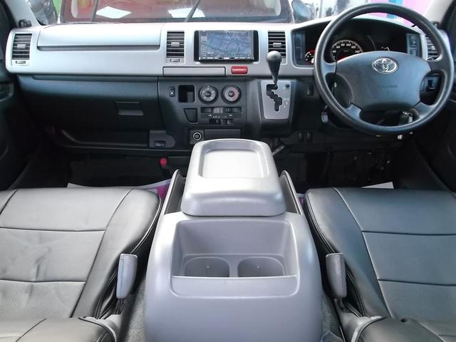 トヨタ ハイエースバン スーパーGL3.0DT4WDナビTV後席TVベット1オーナー