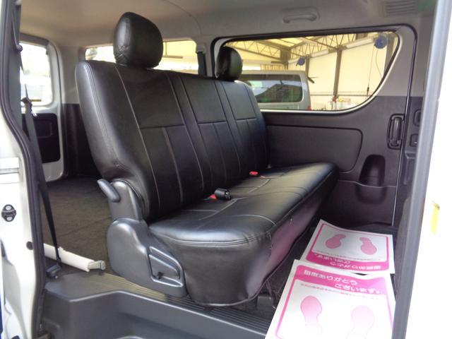 スーパーGLなら後席も快適!専用リクライニングシート・Wエアコン・両側パワースライドドア!リアシートベルト標準装備で同乗者も安心!後席モニター取り付けも承ります!お気軽にご相談ください!
