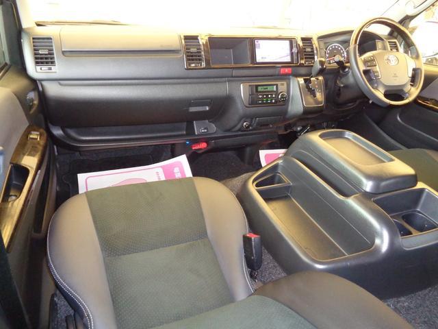 ロングワイドスーパーGL 4型ダークプライム4WD6AT1オーナー禁煙車SDフルセグバックカメラ両側電動ドアスマートキーセキュリティーエアロLEDライト専用レザー&黒木目インテリアWエアバック(8枚目)