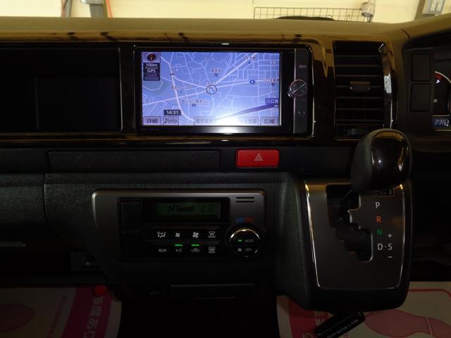 ロングワイドスーパーGL 4型ダークプライム4WD6AT1オーナー禁煙車SDフルセグバックカメラ両側電動ドアスマートキーセキュリティーエアロLEDライト専用レザー&黒木目インテリアWエアバック(11枚目)