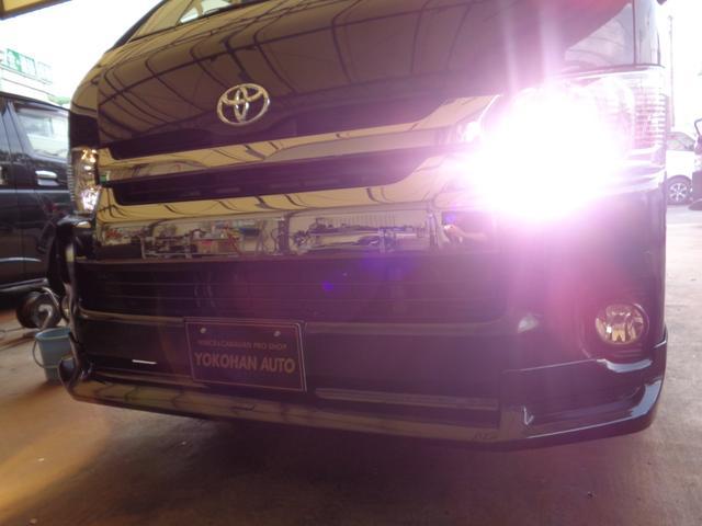 ロングワイドスーパーGL 4型ダークプライム4WD6AT1オーナー禁煙車SDフルセグバックカメラ両側電動ドアスマートキーセキュリティーエアロLEDライト専用レザー&黒木目インテリアWエアバック(14枚目)