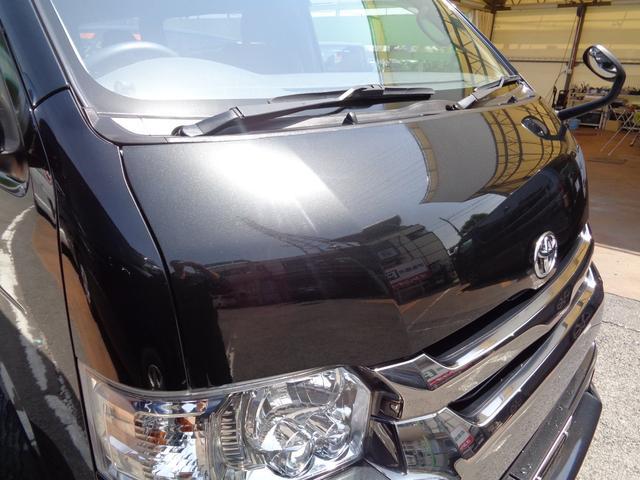 ロングワイドスーパーGL 4型ダークプライム4WD6AT1オーナー禁煙車SDフルセグバックカメラ両側電動ドアスマートキーセキュリティーエアロLEDライト専用レザー&黒木目インテリアWエアバック(28枚目)