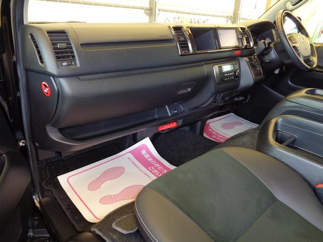 ロングワイドスーパーGL 4型ダークプライム4WD6AT1オーナー禁煙車SDフルセグバックカメラ両側電動ドアスマートキーセキュリティーエアロLEDライト専用レザー&黒木目インテリアWエアバック(70枚目)