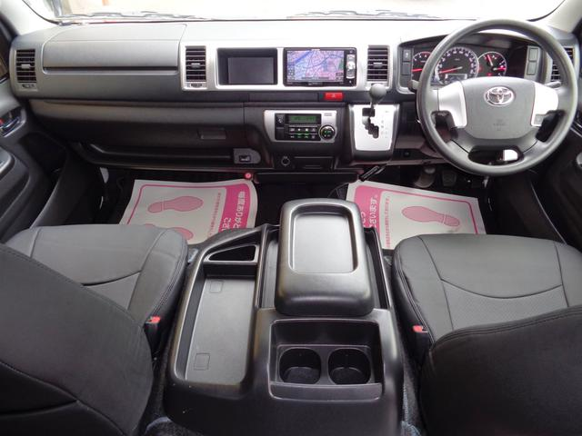 ロングワイドスーパーGL 5型2.8ディーゼルターボ6速ATセーフティーセンス1オーナー禁煙車ナビTVバックカメラセキュリティーETCスマートキーエアロLEDライト黒革調シートAC100Vスライド窓(7枚目)