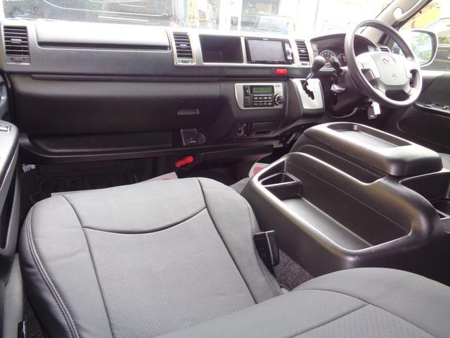 ロングワイドスーパーGL 5型2.8ディーゼルターボ6速ATセーフティーセンス1オーナー禁煙車ナビTVバックカメラセキュリティーETCスマートキーエアロLEDライト黒革調シートAC100Vスライド窓(8枚目)
