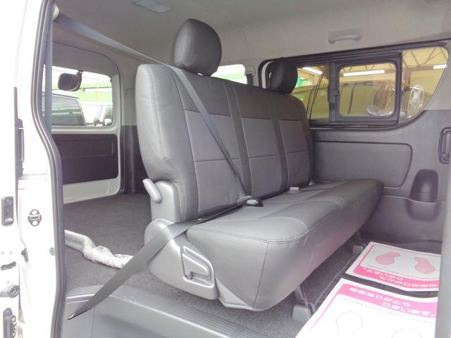 ロングワイドスーパーGL 5型2.8ディーゼルターボ6速ATセーフティーセンス1オーナー禁煙車ナビTVバックカメラセキュリティーETCスマートキーエアロLEDライト黒革調シートAC100Vスライド窓(9枚目)