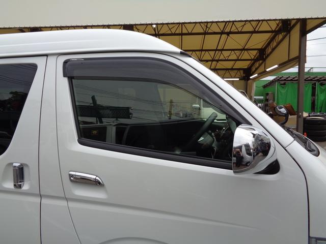 ロングワイドスーパーGL 5型2.8ディーゼルターボ6速ATセーフティーセンス1オーナー禁煙車ナビTVバックカメラセキュリティーETCスマートキーエアロLEDライト黒革調シートAC100Vスライド窓(28枚目)