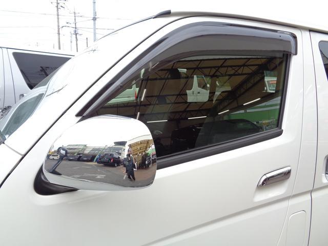 ロングワイドスーパーGL 5型2.8ディーゼルターボ6速ATセーフティーセンス1オーナー禁煙車ナビTVバックカメラセキュリティーETCスマートキーエアロLEDライト黒革調シートAC100Vスライド窓(30枚目)