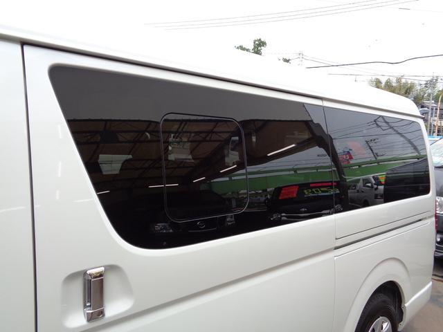 ロングワイドスーパーGL 5型2.8ディーゼルターボ6速ATセーフティーセンス1オーナー禁煙車ナビTVバックカメラセキュリティーETCスマートキーエアロLEDライト黒革調シートAC100Vスライド窓(37枚目)
