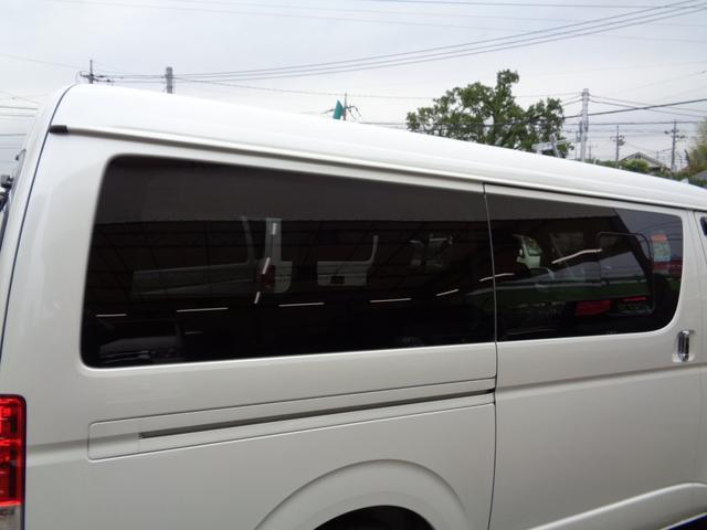 ロングワイドスーパーGL 5型2.8ディーゼルターボ6速ATセーフティーセンス1オーナー禁煙車ナビTVバックカメラセキュリティーETCスマートキーエアロLEDライト黒革調シートAC100Vスライド窓(50枚目)