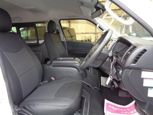 ロングワイドスーパーGL 5型2.8ディーゼルターボ6速ATセーフティーセンス1オーナー禁煙車ナビTVバックカメラセキュリティーETCスマートキーエアロLEDライト黒革調シートAC100Vスライド窓(54枚目)