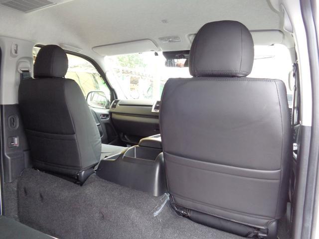 ロングワイドスーパーGL 5型2.8ディーゼルターボ6速ATセーフティーセンス1オーナー禁煙車ナビTVバックカメラセキュリティーETCスマートキーエアロLEDライト黒革調シートAC100Vスライド窓(56枚目)