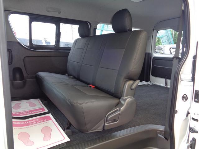 ロングワイドスーパーGL 5型2.8ディーゼルターボ6速ATセーフティーセンス1オーナー禁煙車ナビTVバックカメラセキュリティーETCスマートキーエアロLEDライト黒革調シートAC100Vスライド窓(65枚目)