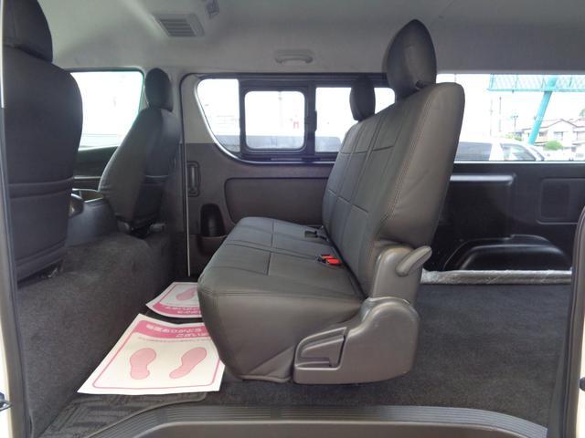 ロングワイドスーパーGL 5型2.8ディーゼルターボ6速ATセーフティーセンス1オーナー禁煙車ナビTVバックカメラセキュリティーETCスマートキーエアロLEDライト黒革調シートAC100Vスライド窓(66枚目)