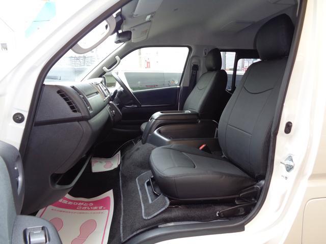 ロングワイドスーパーGL 5型2.8ディーゼルターボ6速ATセーフティーセンス1オーナー禁煙車ナビTVバックカメラセキュリティーETCスマートキーエアロLEDライト黒革調シートAC100Vスライド窓(70枚目)