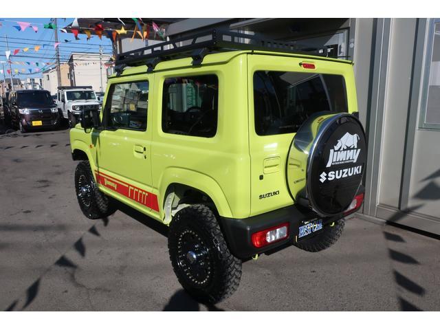 XC 4WD リフトアップフルカスタム車 5速ミッション車 社外フロントバンパー&LEDフォグライト&電動ウインチ リフトアップサス&ショック 前後強化ラテラル 社外16インチアルミ&マッドタイヤ OPフロントグリル スズキセーフティサポートシステム搭載(3枚目)