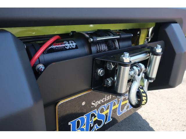 XC 4WD リフトアップフルカスタム車 5速ミッション車 社外フロントバンパー&LEDフォグライト&電動ウインチ リフトアップサス&ショック 前後強化ラテラル 社外16インチアルミ&マッドタイヤ OPフロントグリル スズキセーフティサポートシステム搭載(8枚目)