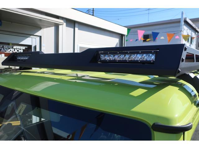 XC 4WD リフトアップフルカスタム車 5速ミッション車 社外フロントバンパー&LEDフォグライト&電動ウインチ リフトアップサス&ショック 前後強化ラテラル 社外16インチアルミ&マッドタイヤ OPフロントグリル スズキセーフティサポートシステム搭載(9枚目)