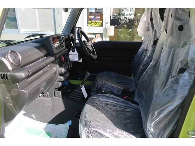 XC 4WD リフトアップフルカスタム車 5速ミッション車 社外フロントバンパー&LEDフォグライト&電動ウインチ リフトアップサス&ショック 前後強化ラテラル 社外16インチアルミ&マッドタイヤ OPフロントグリル スズキセーフティサポートシステム搭載(13枚目)