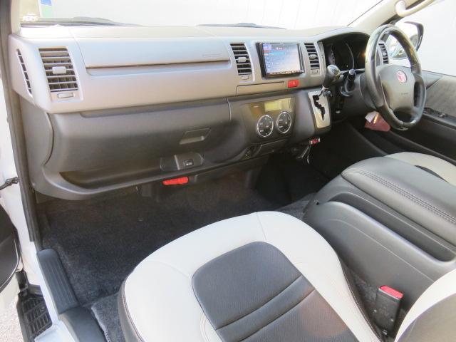 トヨタ ハイエースバン ロングスーパーGLベッドキット室内カーテンディスチャージ