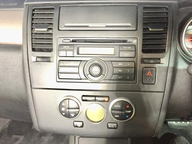 日産 ティーダ 15M 黒ハーフレザーシート インテリキー CD ETC