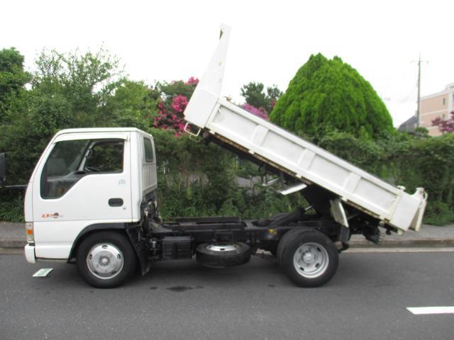 いすゞ エルフトラック 強化フルフラットロー ダンプ 4.8デイーゼル 3トン