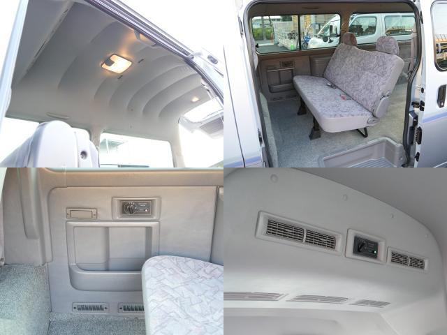 スーパーロングハイルーフ5人乗低床Wエアコン付トランポAT車(80枚目)