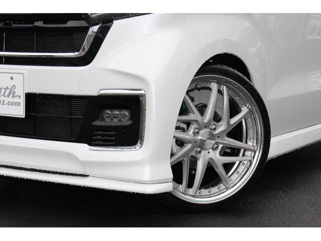 Lターボ テイン車高調・リザルタード17AW・両側自動ドア・LEDヘッドライト・無限フロントスポイラー・前後マッドガード(4枚目)