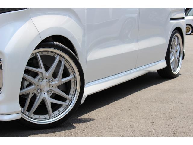 Lターボ テイン車高調・リザルタード17AW・両側自動ドア・LEDヘッドライト・無限フロントスポイラー・前後マッドガード(18枚目)