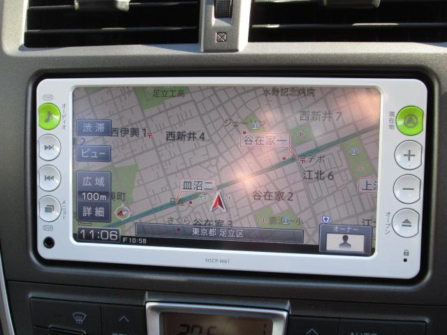 トヨタ ラクティス G スマートストップセレクション SDナビ バックモニター
