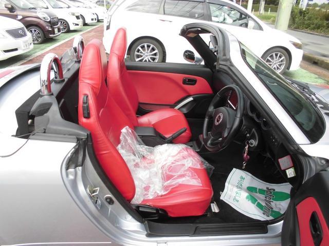 アクティブトップ 赤レザーシート シートヒーター オートマ 電動開閉動作確認済み モモステアリング DVDナビ2002年データ(18枚目)