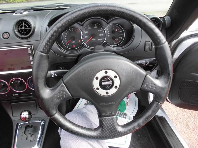 アクティブトップ 赤レザーシート シートヒーター オートマ 電動開閉動作確認済み モモステアリング DVDナビ2002年データ(22枚目)