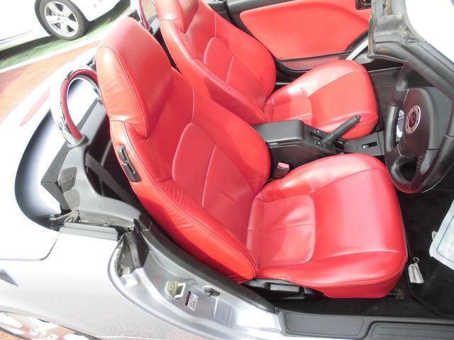 アクティブトップ 赤レザーシート シートヒーター オートマ 電動開閉動作確認済み モモステアリング DVDナビ2002年データ(29枚目)