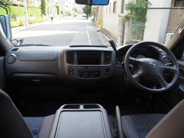 日産 キャラバンバス 福祉車両 リヤーリフト 車椅子2名他8名ストレッチャー固定付