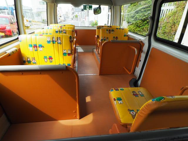 幼児バス 園児バス スクールバス 普通免許 大人2人幼児12人乗り オートステップ 非常口(7枚目)
