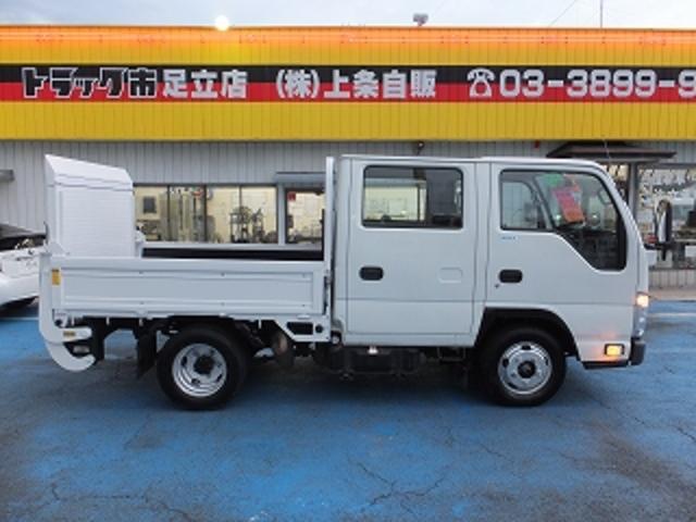 いすゞ エルフトラック 2.0tWキャブフルフラットロー アームゲート600kg