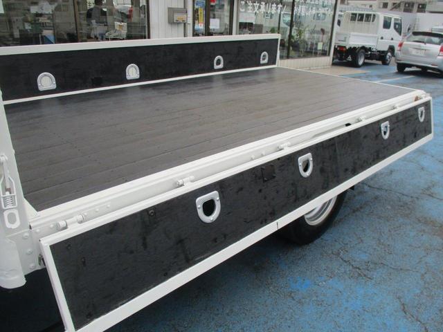ロング高床 4.9D 標準 ロング 高床 2.6t吊り3段クレーン フックイン 木製荷台 床板張り ロープ穴4対(25枚目)