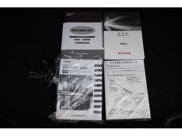 付属品は車両取扱書、新車時保証書、整備記録簿等が揃っています!