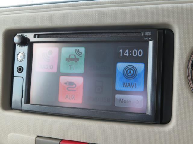オーディオソース画面です。タッチパネルでの操作が可能です。