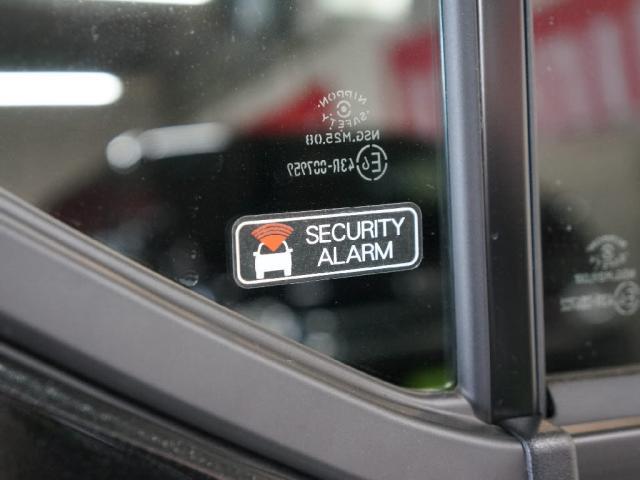 セキュリティアラームも標準装備!