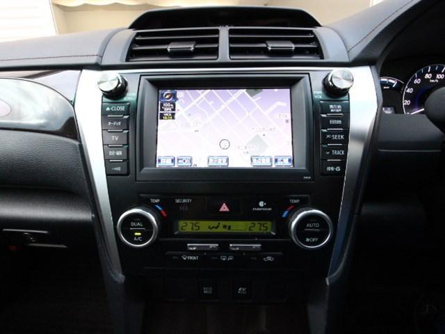 トヨタ カムリ ハイブリッド Gパッケージ 純正HDDナビフルセグ 保証書