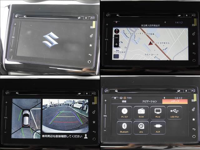 HYBRID RS セーフティパッケージ装着車 衝突軽減ブレーキ スズキ純正メーカーオプションナビ 全方位モニター フルセグ BT接続 USB接続 純正ビルトインETC シートヒーター アイドリングストップ スマートキー(15枚目)