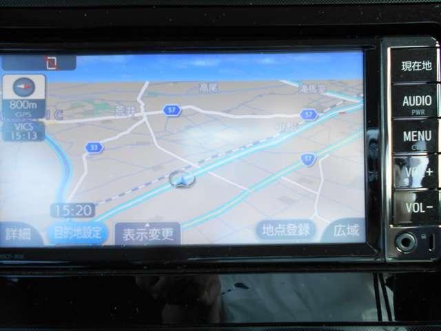【ナビゲーション】ナビゲーションはトヨタ純正メモリーナビです。これさえあれば初めての道でも安心ですね。