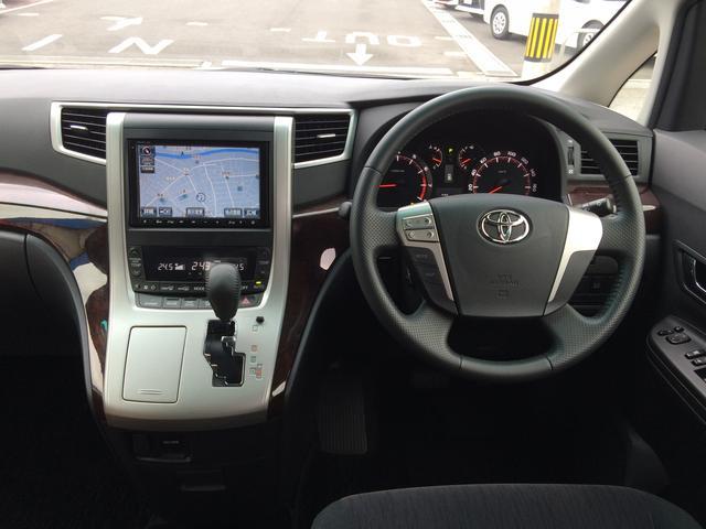 トヨタ ヴェルファイア 2.4Z 純正8型HDDナビ バックモニター ETC